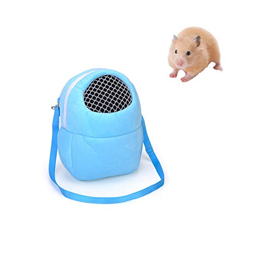 Tfwadmx Hamsters Carrier Bag Portable Travel Backpack Breathable Outgoing Bag bonding Pouch for Small Pets Hedgehog, Hamsters, Sugar Glider, Chinchilla, Guinea Pig and Squirrel