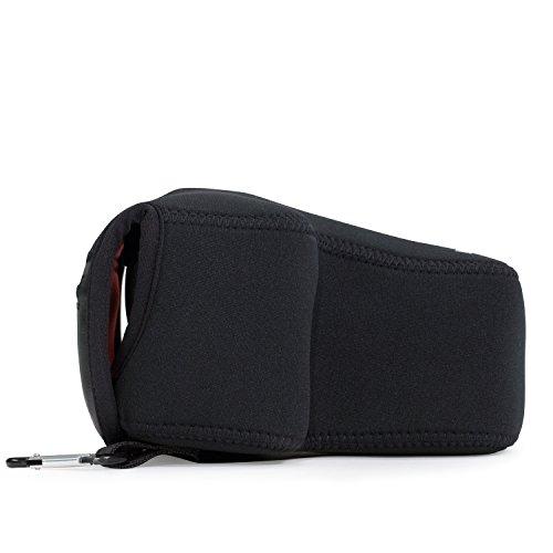 MegaGear MG089 Canon EOS 2000D, 4000D, 800D (18-55 mm), 1300D, 100D, 700D Ultraleichte Kameratasche aus Neopren - Schwarz