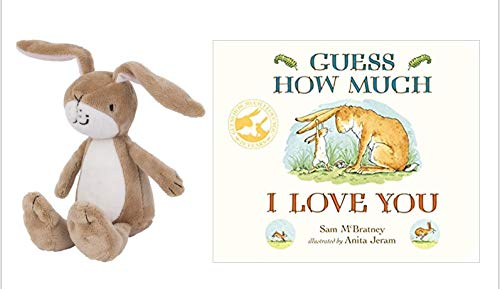 nursery Guess How Much I Love You Board Book & Nutbrown Hare Rattle Soft Toy