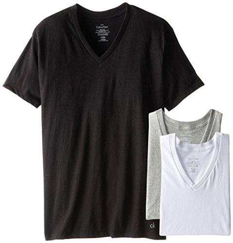Calvin Klein Men's Cotton Classics Multipack V Neck T-Shirts, Multi, XX-Large