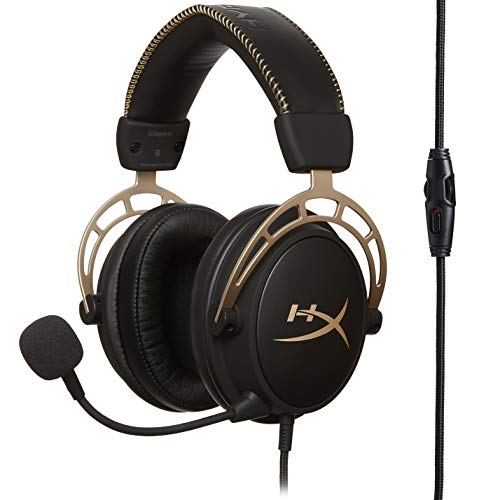 HyperX HX-HSCA-GD/NAP Cloud Alpha Gold - Gaming Kopfhörer mit In-Line Audio Control