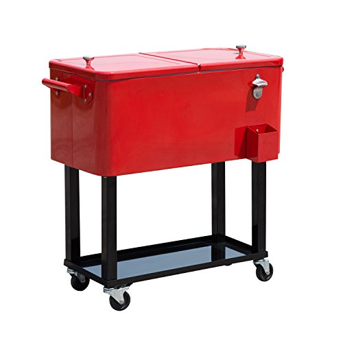 Giantex 80-Quart Cooler Beer Cart