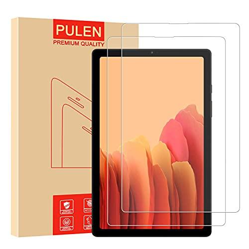 PULEN Protector de pantalla para Samsung Galaxy Tab A7 Lite [libre de burbujas] [no se pegan las huellas dactilares] [resistencia a los arañazos] [HD] película de vidrio templado