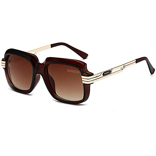 SHEEN KELLY Grote luxe retro zonnebril heren vierkant vintage designer dames zonnebril pilot sport rijden avitor gradiënten lens