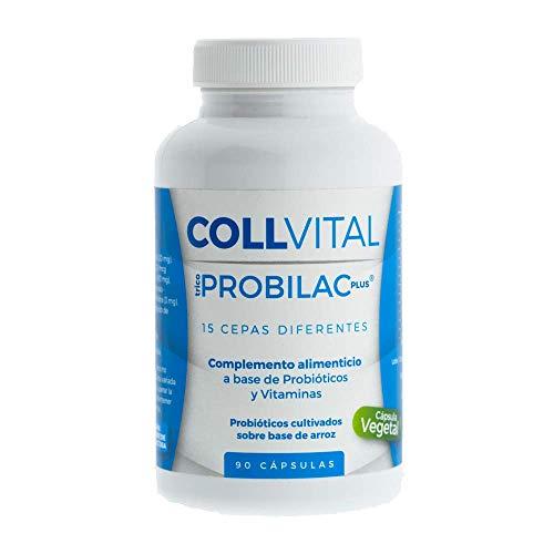 Probióticos y prebioticos veganos con 15 cepas | 90 cápsulas tratamiento probiotico para 3 meses | Mejora las defensas y la flora intestinal | lactobacillus y Bíprobioticos
