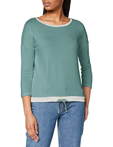 STREET ONE Damen 314657 T-Shirt, thyme jade, 46