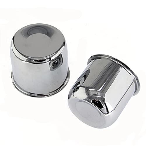 """4 Pack Chrome Steel Center Caps Push Thru for Trailer Wheel Rims 4.25"""" Center Bore"""