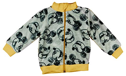 Baby Junge Fleece-Kuschel-Jacke Mantel Mickey Mouse Disney warm dick gefüttert Größe 56 62 68 74 80 86 für 3 6 9 12 Monate Winter-Kleidung Weihnachts-Geschenk (80, Modell 1)
