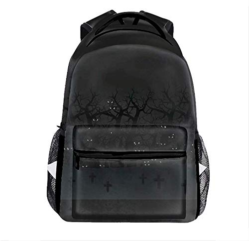 Lightweight Backpack for Outdoor, Halloween Poster Basic Water Resistant Casual Daypack for Travel with Bottle Side Pockets