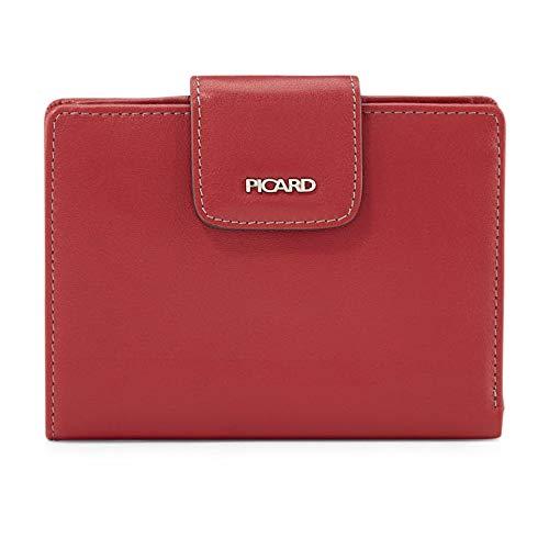 Picard, Damen Geldbörse aus Leder, in der Farbe Rot, aus der Serie Ladysafe, mit Druckknopf, 94412M5087