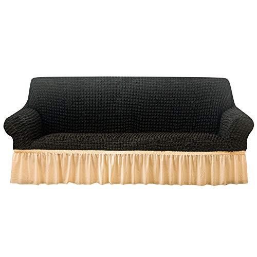 Extensible Protege Fauteuil ,Canapé antidérapante 2/3/4 places Spectacle de canapé antidérapante,couvercles de protection de canapé avec jupe,couverture de canapé pour bureau/salon/étude-B_4 pla
