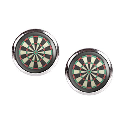 Mylery Ohrstecker Paar mit Motiv Darts Dart-Scheibe Bulls-Eye silber 12mm