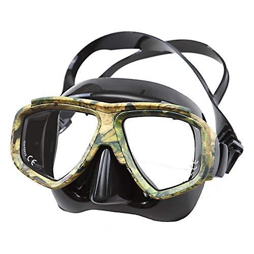 HUOFEIKE Gafas de Silicona de Camuflaje, Gafas submarinas Snorkeling Turismo Pesca Operaciones submarinas Entrenamiento de Buceo Piscina HD antivaho antivaho