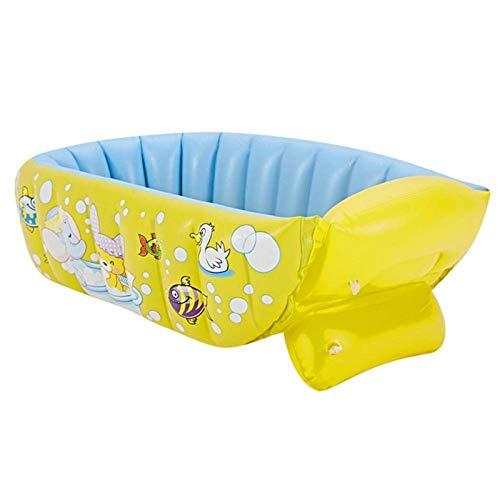 N-B Bañera Inflable para bebé, bañera Que Puede Sentarse y acostarse, bañera Inflable de Viaje portátil, Piscina de Ducha Gruesa Plegable para niños