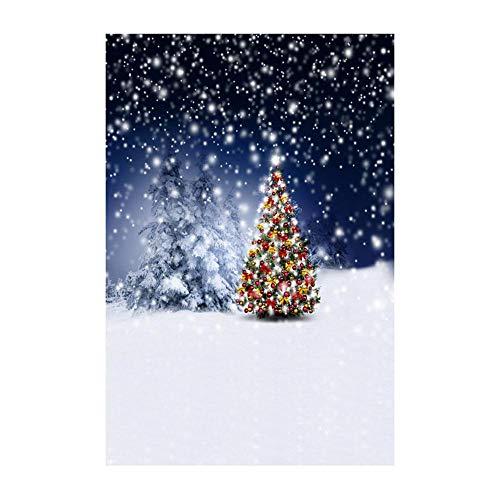ODJOY-FAN Weihnachten Dekoration Hintergrund, 3D Fotografie Hintergrund 3D Aufkleber Schneemann Hintergründe Photography Background Vinyl Laterne Hintergrund (90x150cm) (A,1 PC)