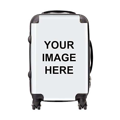 Personalised Suitcase | Customised Cabin Bag with Your own Photo or Design | Personalise Luggage Now with Your uploaded Image | 58 x 34 x 23cm Carry-on Spinner