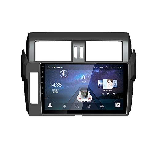 Flower-Ager Android 10 Autoradio Stereo 2DIN GPS Navi per Toyota Prado 2014-2017 Supporta BT4.0/WiFi/DSP/Mirror-Link/Controllo al Volante Compatibile con Dab + Adpter/Telecamera Posteriore,WiFi,1+16G