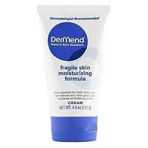 DerMend Specialized Fragile Skin Moisturizing Cream: Formula to Restore & Rejuvenate Mature Skin – Daily Moisturizer & Anti Wrinkle Cream for Firming & Strengthening Thin, Aging Skin – 4.5 Oz Tube