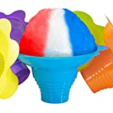 Super Cute Flower Cups 25 Pack. Colorful, Leak Proof Small Bowls Are Perfect Snow Cone Supply for Kids Birthday Party or Summer Cookout. Easy Grip, Reusable Bowl For Shaved Ice, Snacks or Ice Cream