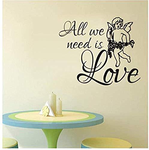 Stickers muraux, nous avons juste besoin d'aimer les stickers muraux créatifs décoration de la maison salon chambre cuisine art autocollants 59X72Cm