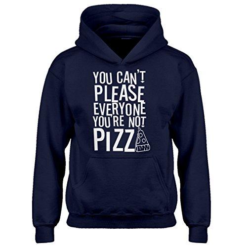 Kids Hoodie You're Not Pizza Youth M - (8-10) Navy Blue Hoodie