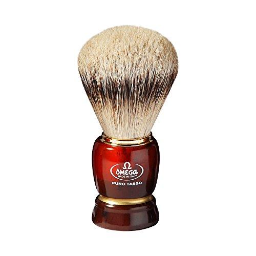 Omega 637 Silvertip Badger Shaving Brush