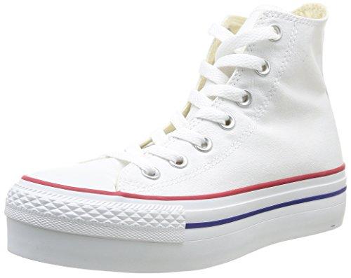 Converse Ctas Hi Platform Canvas, Sneaker Donna, Bianca, 36.5 EU