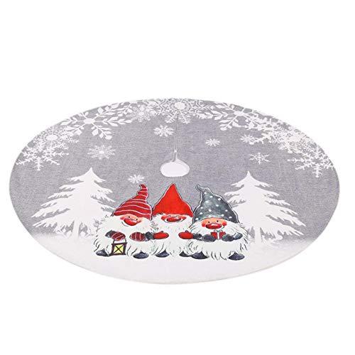 Groust Falda para árbol de Navidad, falda de árbol de Navidad, falda estampada, base para árbol de Navidad, redonda, 178 cm