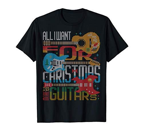 Heavy Metal X-Mas Rock Guitar Player Ugly Christmas Sweater T-Shirt