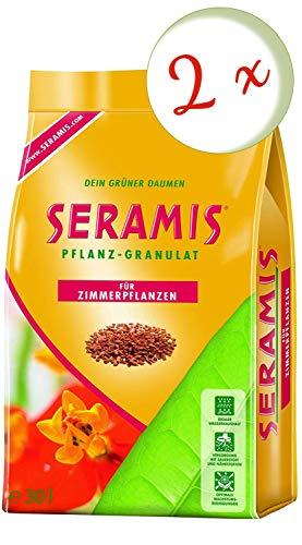 Oleanderhof® Sparset: 2 x SERAMIS® Pflanz-Granulat für Zimmerpflanzen, 30 Liter + gratis Oleanderhof Flyer