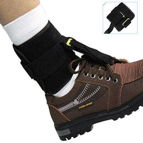 XYLUCKY Support de Cheville Brace Pied Tombant Orthosis - Confort Cushioned Compression réglable Wrap pour la Marche Gait améliorée, Prévient Cramps Cheville Entorses