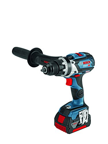 Bosch Professional Perceuse-Visseuse Sans Fil GSR 18V-85 C (18V, 2 batteries 5,0 Ah Batterie Li-Ion, Couple max. : 85 Nm, Mandrin métal : 13 mm, L-BOXX)