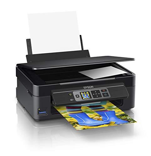Epson Expression Home XP-352 3-in-1 Tintenstrahl-Multifunktionsgerät Drucker (Drucken, scannen, kopieren, WiFi, 3,7 cm Display, Einzelpatronen, 4 Farben, DIN A4) schwarz