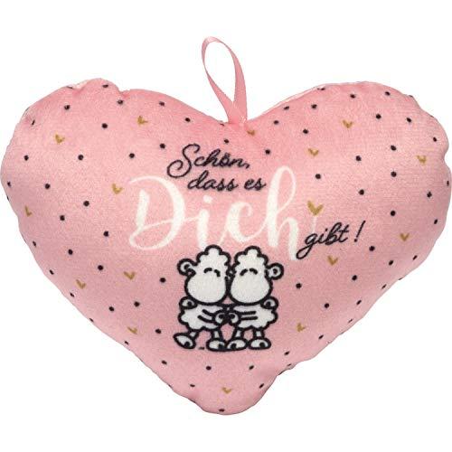 Sheepworld 46772 - Cojín con Forma de corazón (tamaño pequeño), diseño con Texto Schön DASS es Di