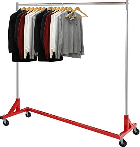 Simple Houseware Commercial Z Base Garment Rack, Red