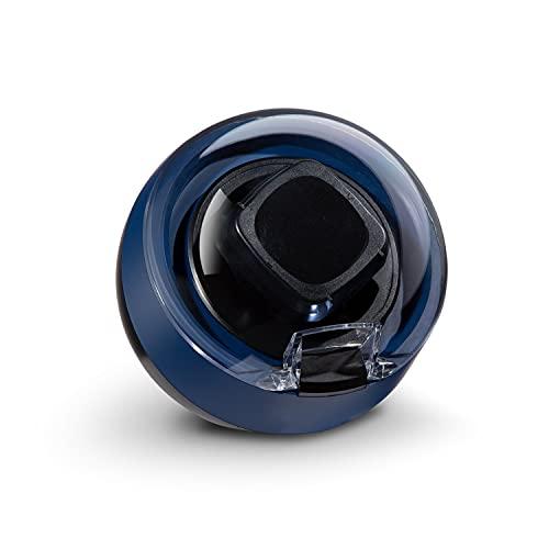 Klarstein St. Gallen ll - Estuche para Relojes Giratorio, Rotación Ajustable, 4 programas: 650/900 / 1200/1500 TPD, Iluminación LED, Panel de Control táctil, Azul