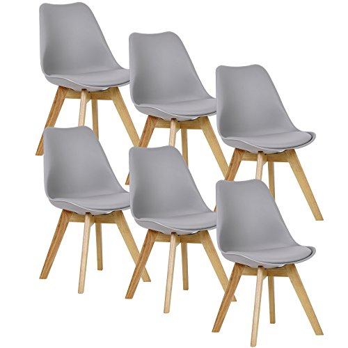 Sillas De Cocina De Madera Y Asiento Acolchado sillas de cocina de madera  Marca WOLTU
