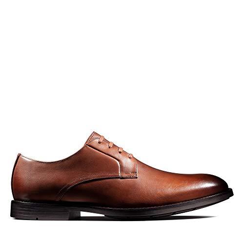 Clarks Ronnie Walk, Zapatos de Cordones Derby, Marrón (British Tan Lea British Tan Lea), 46 EU