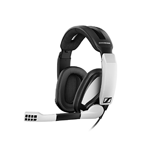 Sennheiser GSP 301 Closed Back Gaming Headset for PC, Mac, PS4 and Xbox One, black and White Headsets