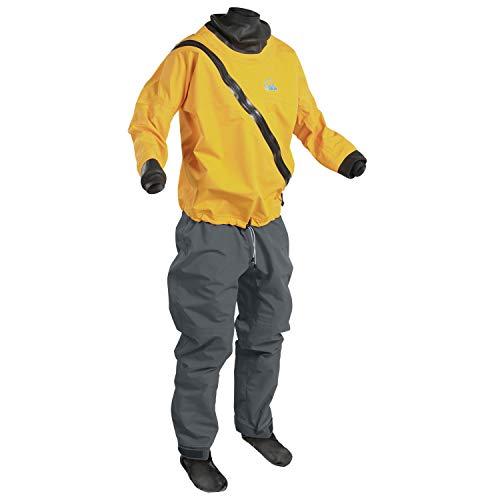 Palm Kajak oder Kajak - Herren Basis Drysuit Dry Suit Saffron Jet Gray - atmungsaktiv