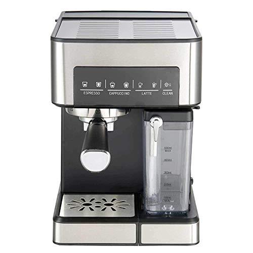 UNIMAT Espressomaschine mit Milchtank, Edelstahl-schwarz, 22 x 29 x 31, 5 cm