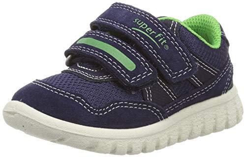 Superfit Jungen SPORT7 Mini Sneaker, Blau (Blau/Grün 81), 27 EU