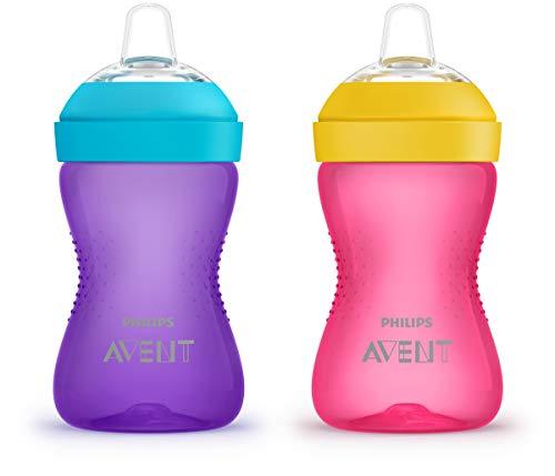 Philips AVENT My Grippy Spout Cup, 10oz, 2pk, Pink/Purple, SCF801/22