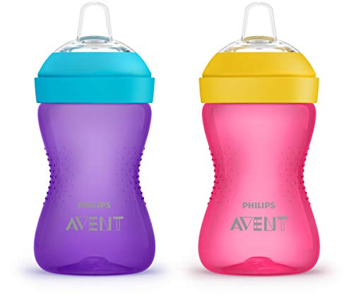 Philips AVENT My Grippy Spout Cup, 10oz, 2pk, Pink/Purple, SCF801/22