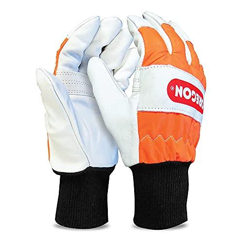 Oregon Guantes con Protección Anticorte para Motosierra, protección mano izquierda - Talla L (talla 10) (91305L)