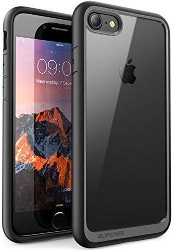 SUPCASE Unicorn Beetle Style Case for iPhone 7 , iPhone 8 , Premium Hybrid Protective Clear Case for Apple iPhone 7 2016 / iPhone 8 2017 (Black)