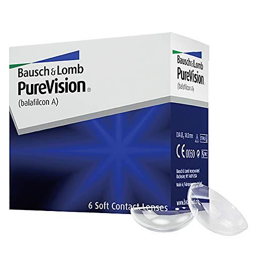 PureVision Spheric Monatslinsen weich, 6 Stück BC 8.6 mm / DIA 14 / -3 Dioptrien