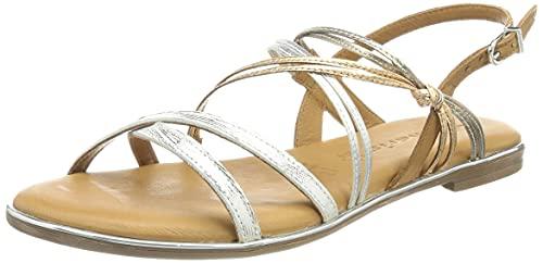 Tamaris Damen Sandale 1-1-28145-26 948 metallic Größe: 38 EU