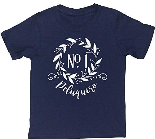 Hippowarehouse Decoración Floral Número Uno Peluquero Camiseta Manga Corta niños niñas Unisex