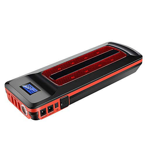 CARACHOME Nuevo arrancador Coche portatil, 2000MAH Cargador portátil de batería de automóvil con Puerto USB y Linterna LED Car Power Pack